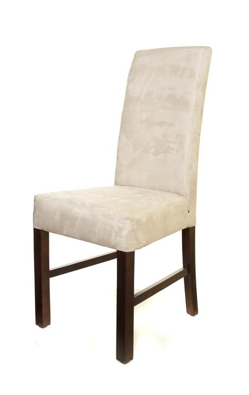 krzesło tapicerowane kominek dab