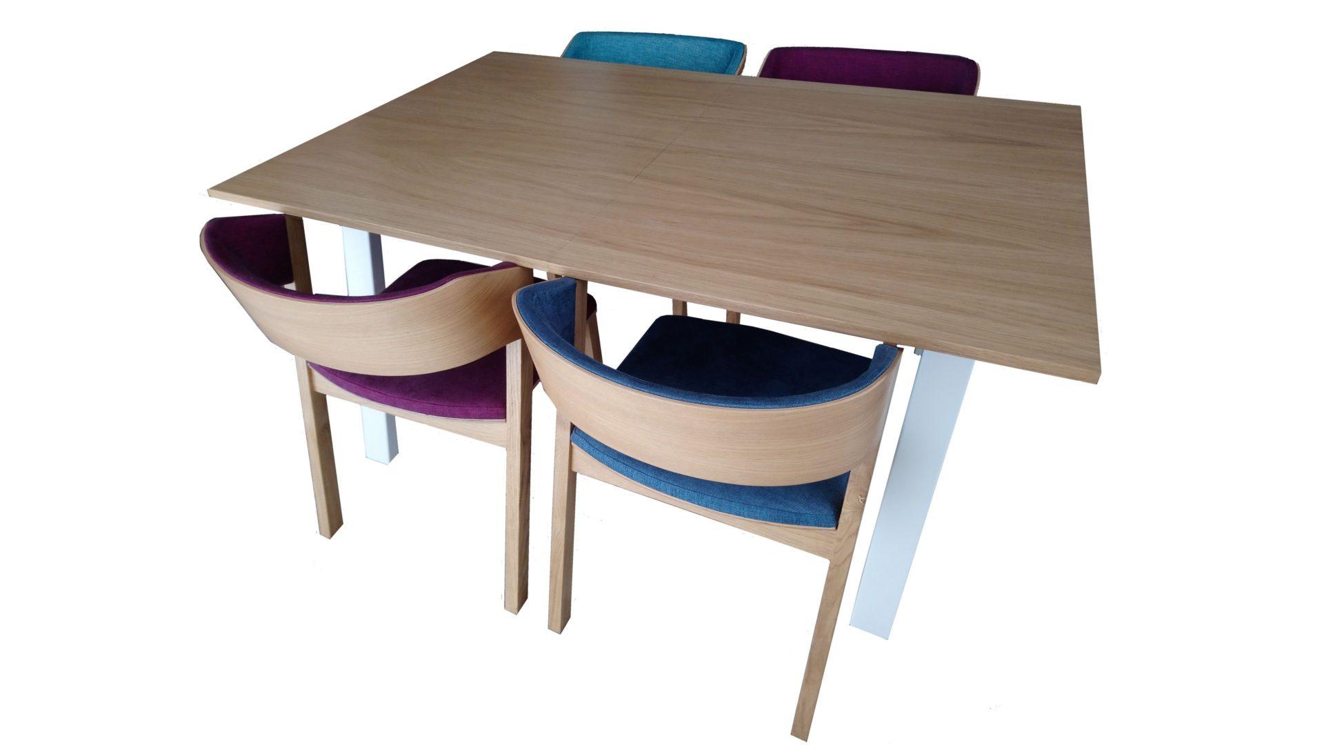 stół ameranos krzesło dębowe